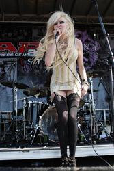 Taylor Momsen in lingerie with a lot upskirts performs live in concert with her band The Pretty Reckless on the first day of the Warped Tour in Carson - Hot Celebs Home