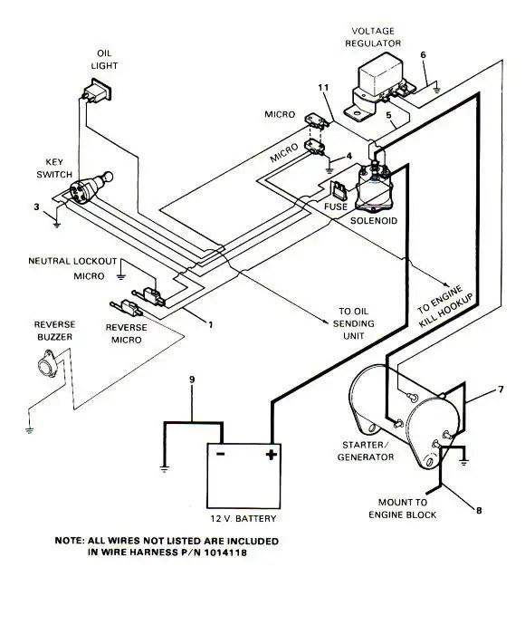 Yamaha Golf Cart Starter Generator Wiring Diagram - Nudohuge