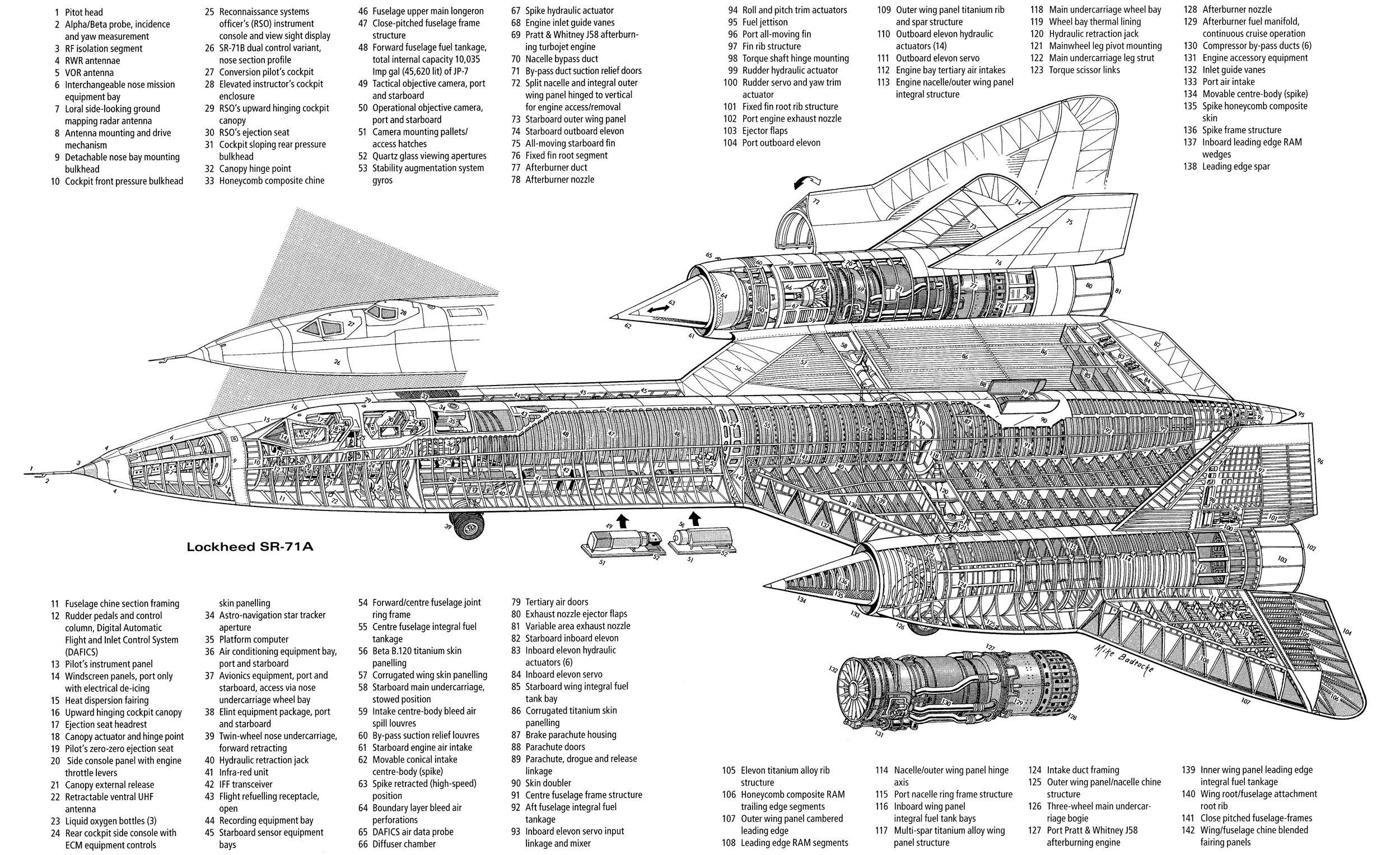 sr 71 blackbird engine diagram