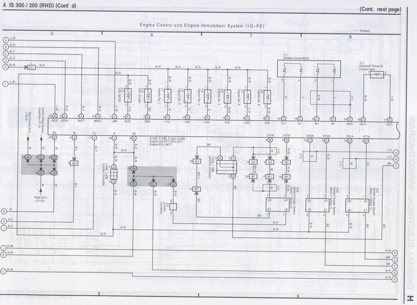 toyota altezza electrical diagram