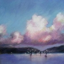 Harbor Lights Pastel Painting from Cynthia Haase Fine Art