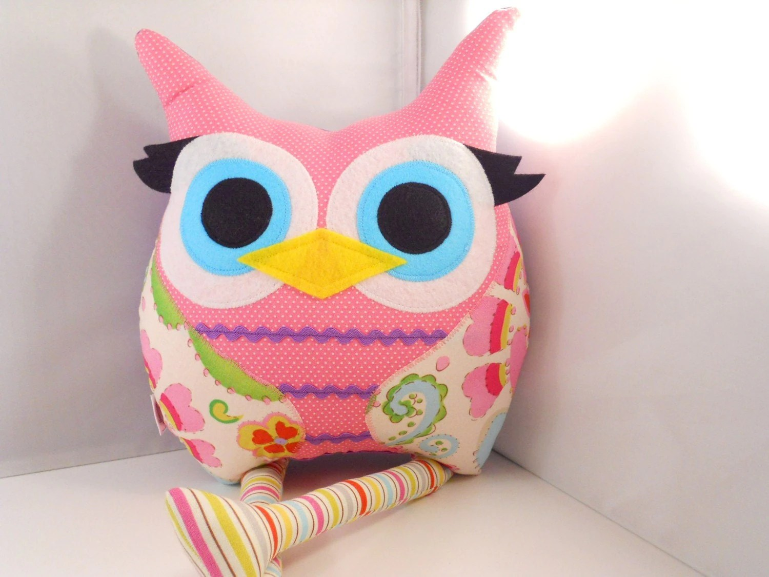 Stuff Owl Owl Pillow Plush Stuffed Toy Christmas Toy Gift By Karensagez