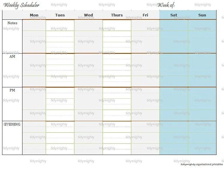 Cute Weekly Homework Planner Template 52398 MOVIEWEB - cute weekly homework planner template