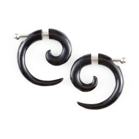 Sterling Silver Rings: Gauge Earringshorn Spiral Earrings