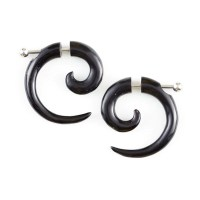 Sterling Silver Rings: Gauge Earringshorn Spiral Earrings ...