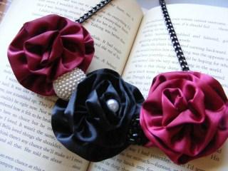 Necklace Bib Style Rosette Twilight Engagement
