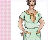 NVL 1920s dustbowl dress 42 bust PLUS SIZE