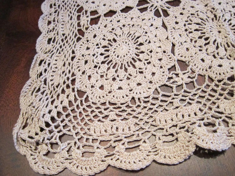 Crocheted Free Pattern Runner Table Crochet And Knitting