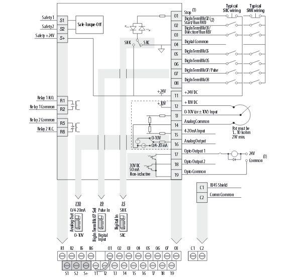 analog wiring diagram for powerflex 40