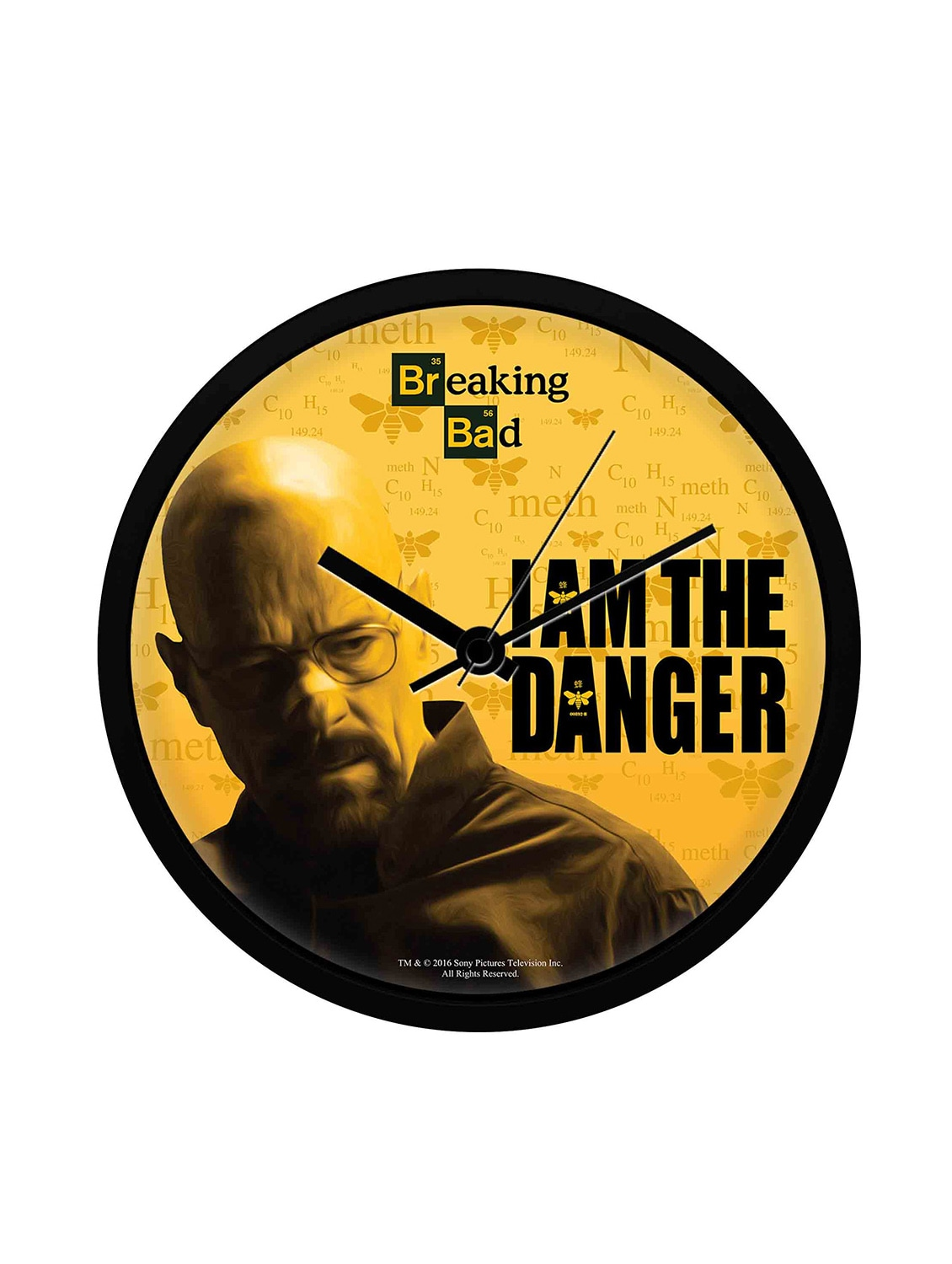 Bad 24 Online Shop Breaking Bad I Am The Danger Wall Clock