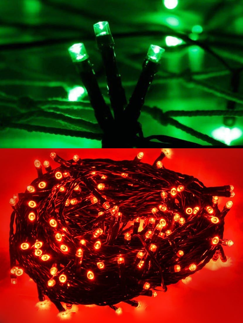Light Decoration Diwali Buy Bedazzled Green Red Colored Decorative Led Lights For