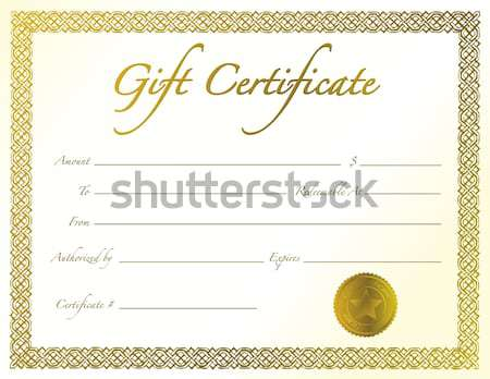 White Wedding card with loving rings and a golden boarder stock
