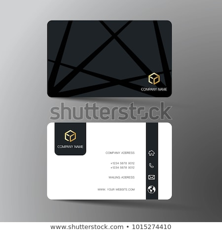 A front and back business card vector illustration © Daniel Cole