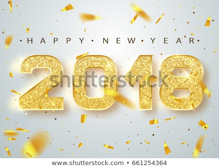2018 Happy New Year Background for Seasonal Greetings Card vector