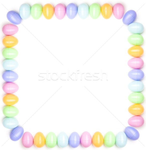 design elements - colorful Easter eggs border stock photo © David