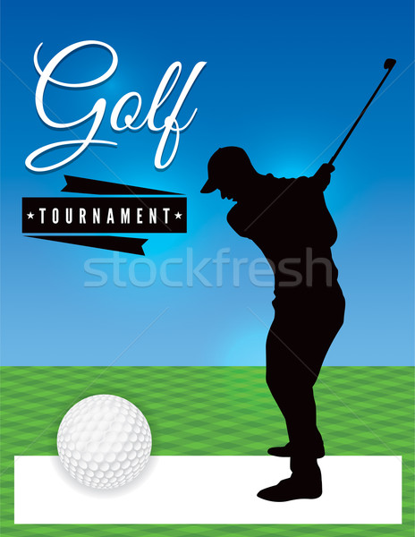 Golf Tournament Flyer Template Illustration vector illustration - golf tournament flyer template