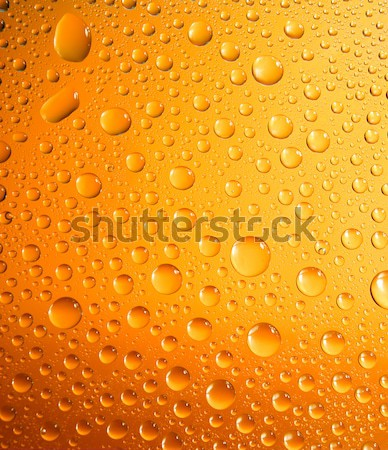 yellow water droplets background stock photo © Mychko Alexander - water droplets background