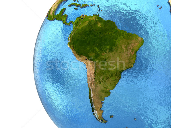 South American continent on Earth stock photo © Tomas Griger