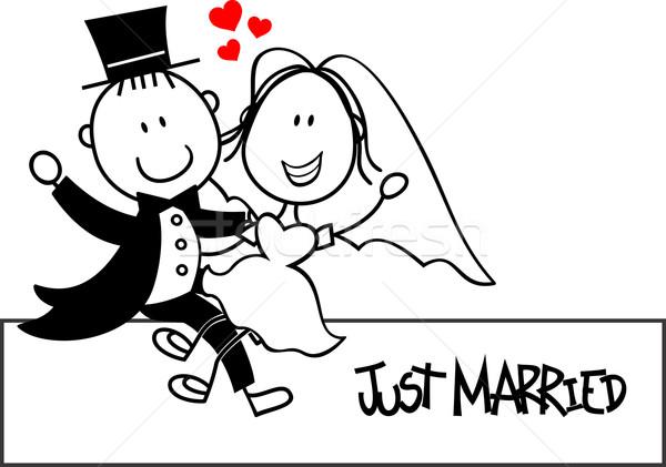 Casamento Engracado Casal Desenho Animado