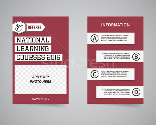 American football couch courses flyer template design Usa Sport