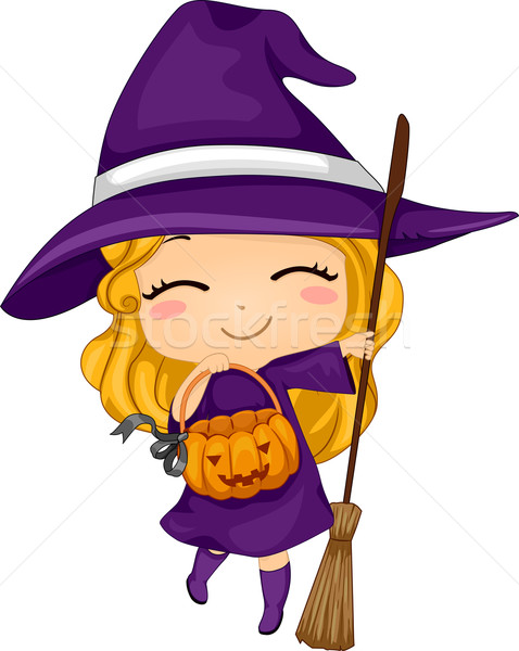 Beautiful Girl Wearing Hat Wallpaper Witches Stock Photos Stock Images And Vectors Stockfresh
