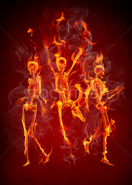 Wallpaper Hd Portrait Orientation Dancing Fiery Skeletons Stock Photo 169 Misha 1312888