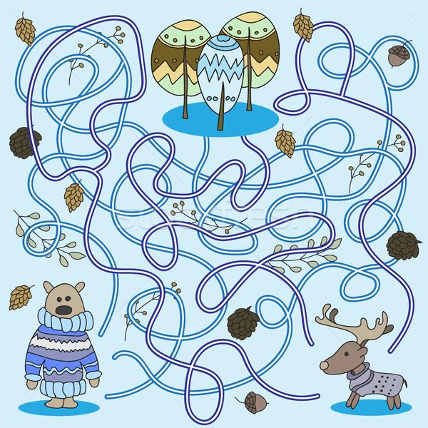 Cartoon of Education - Game for Preschool Children Vector vector
