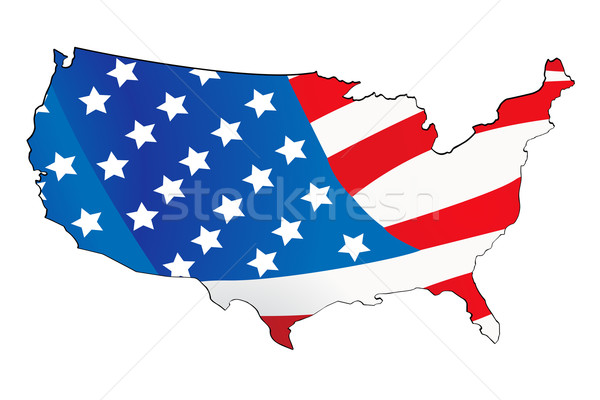 usa map with map background vector illustration © Edmond Mihai