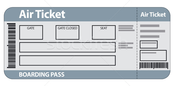 air ticket template vector illustration © Oleh Tokarev (olegtoka