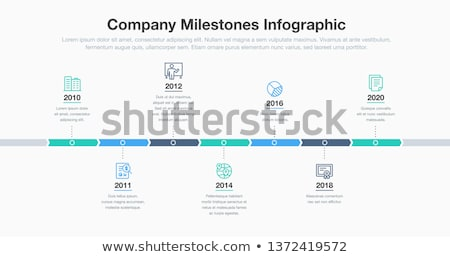 Vector Infographic Company History Timeline Template vector