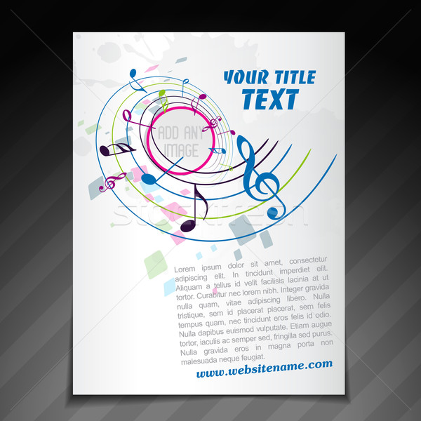 music brochure design vector illustration © Pinnacle Animates