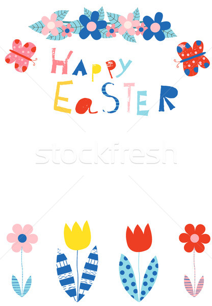 Happy Easter greeting card, invitation, brochure or template vector