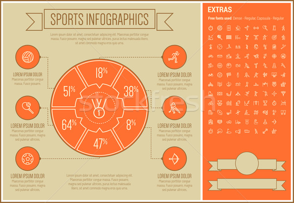 Sports Line Design Infographic Template vector illustration © Andrei