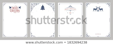 Christmas card with blank letter vector illustration © ratselmeister