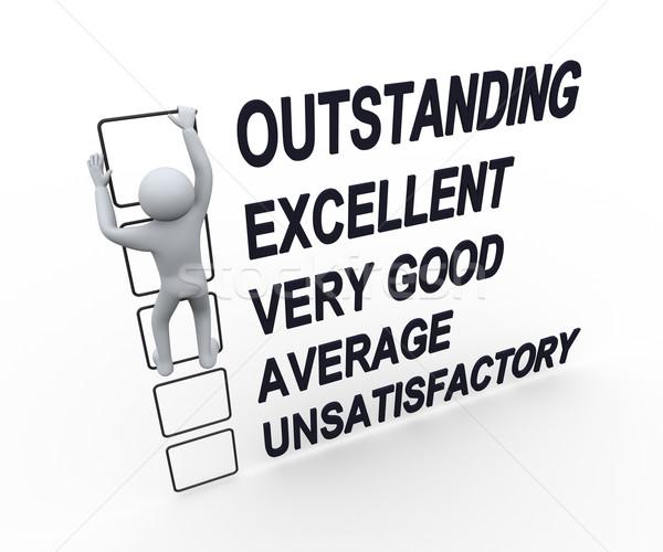3d man performance evaluation form stock photo © ribah nasir - performance evaluation