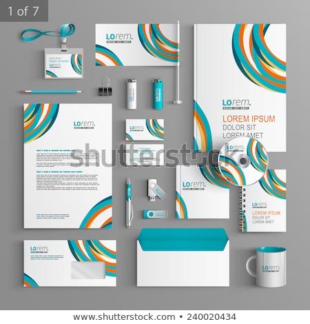 creative circles letterhead design template vector vector