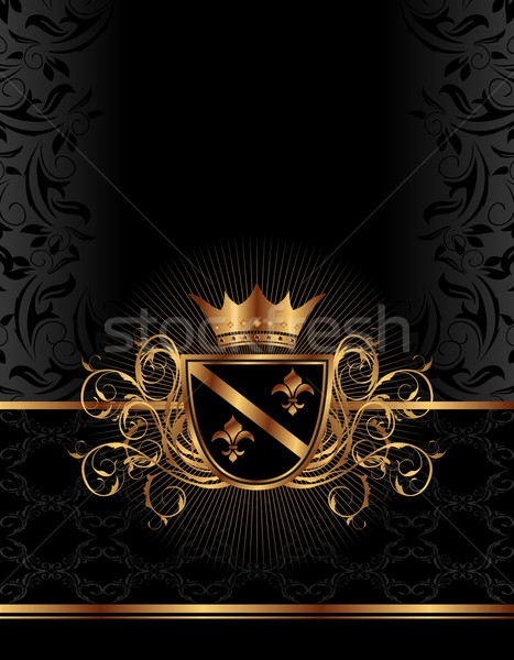 Black And White Victorian Wallpaper Dourado 183 Quadro 183 Coroa 183 Ilustra 231 227 O 183 Preto Ilustra 231 227 O