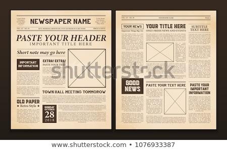 Newspaper template vector illustration © Sergei Kosilko