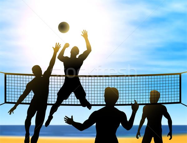 Wallpaper Volleyball Quotes Summer Volleyball Vector Illustration 169 Robert Adrian
