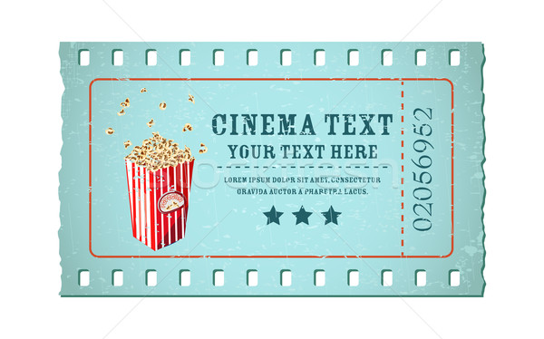 Movie Ticket vector illustration © vectomart (#1922615) Stockfresh - movie ticket template