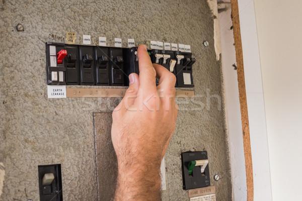 Electrician working on the fuse box stock photo © Wavebreak Media