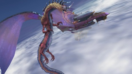 Dragon vs. airship
