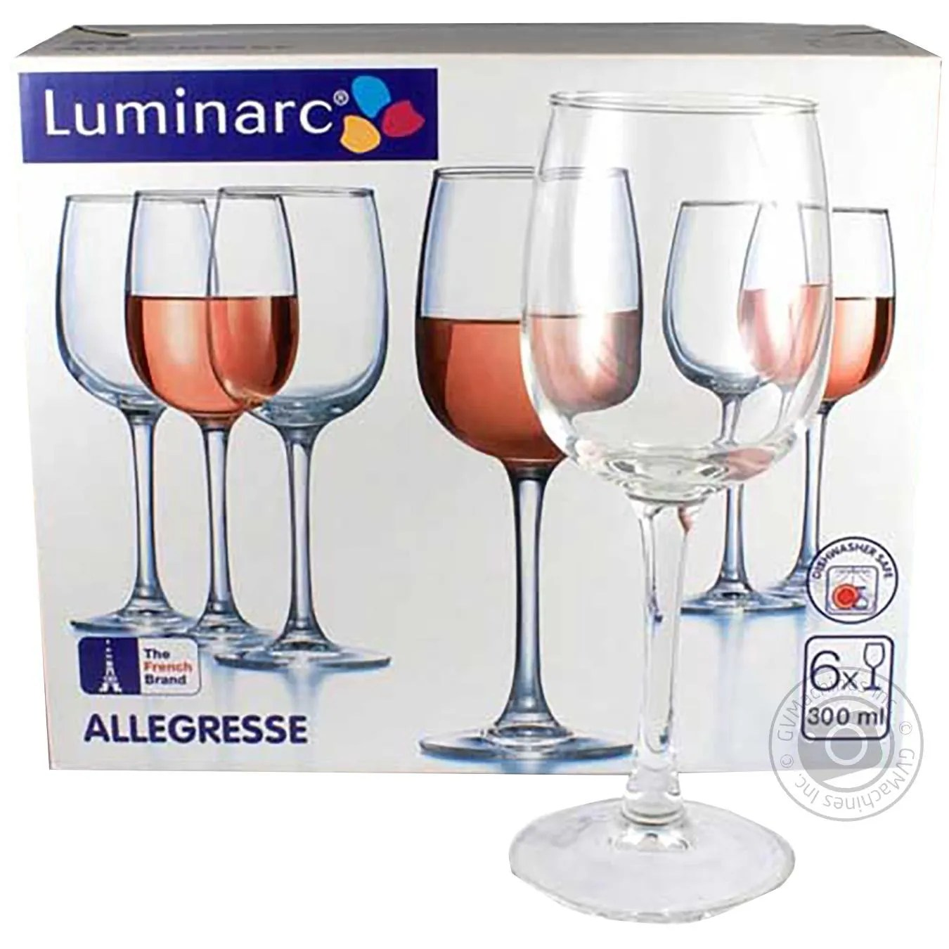Luminarc Glass Glass Luminarc For Wine 6pcs 230ml