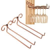 Wine Glass Rack, 2 Rows Stainless Steel Wall-Mounted Wine ...