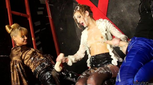 slime covered tits