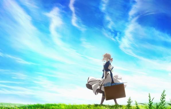 Psp Wallpaper Anime Wallpaper The Sky Girl Anime Violet Evergarden Images