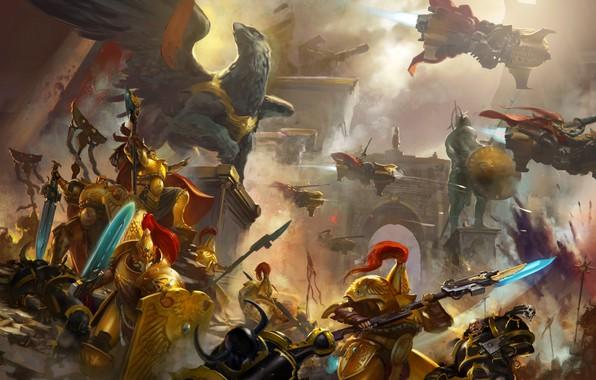 Anime Cellphone Wallpaper Wallpaper City Chaos Space Marine Battle Warhammer 40