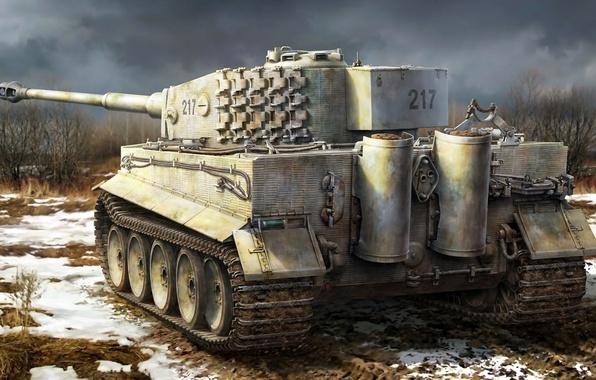 Girls Und Panzer Phone Wallpaper Wallpaper Tiger Figure German Heavy Tank