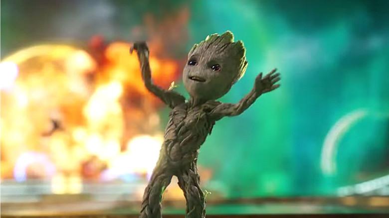 Sweet Baby Wallpaper 3d Baby Groot Gets His Groove On In Guardians Vol 2