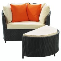 Modway Robin's Nest Outdoor Lounge Chair with Ottoman with ...